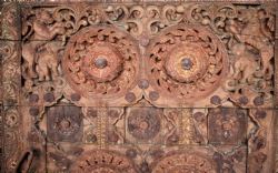 Rare Antique tribal Door from Orissa with carvings (Orissa, SOuth India) CIRCA 1890